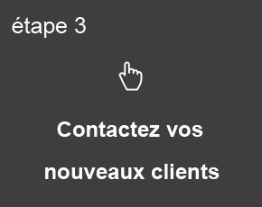 Etape 3, contactez vos nouveaux clients