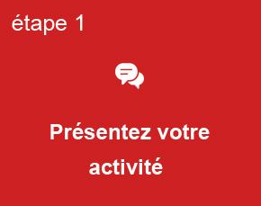 Etape 1 - Présentez votre activité